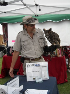 Owl & Tim Brown of Treasure Coast Wildlife Center